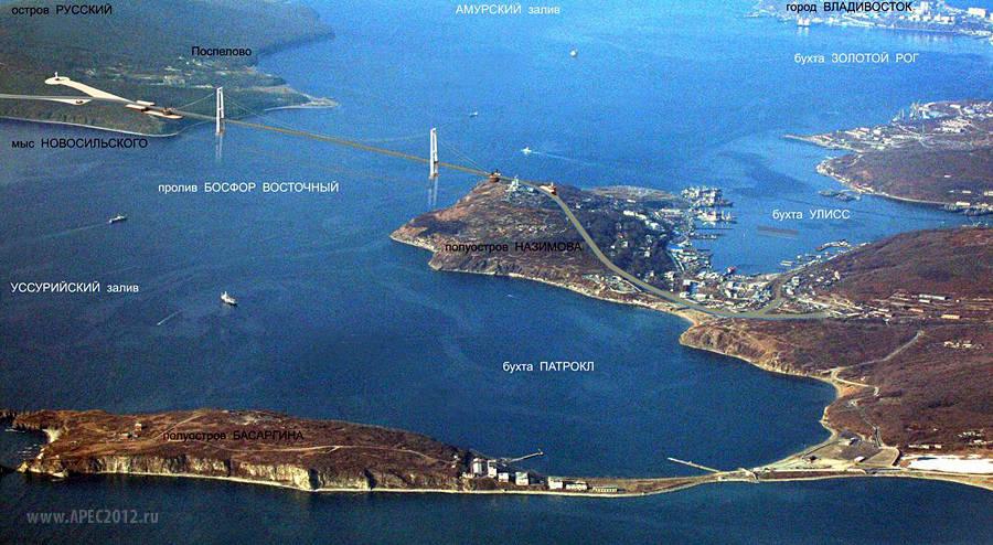Мост на остров Русский будет одним из крупнейших вантовых мостов в