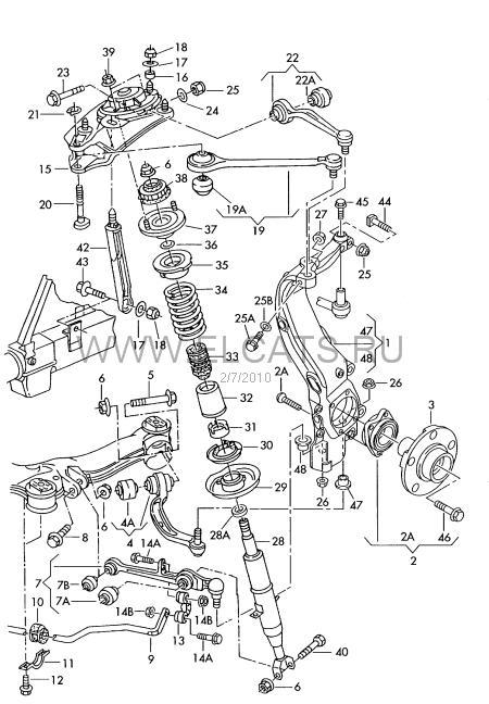 Изображение прикрепил пользователь dron2040 с комментарием: вот схема твоей подвески ауди рычаги там люминий!