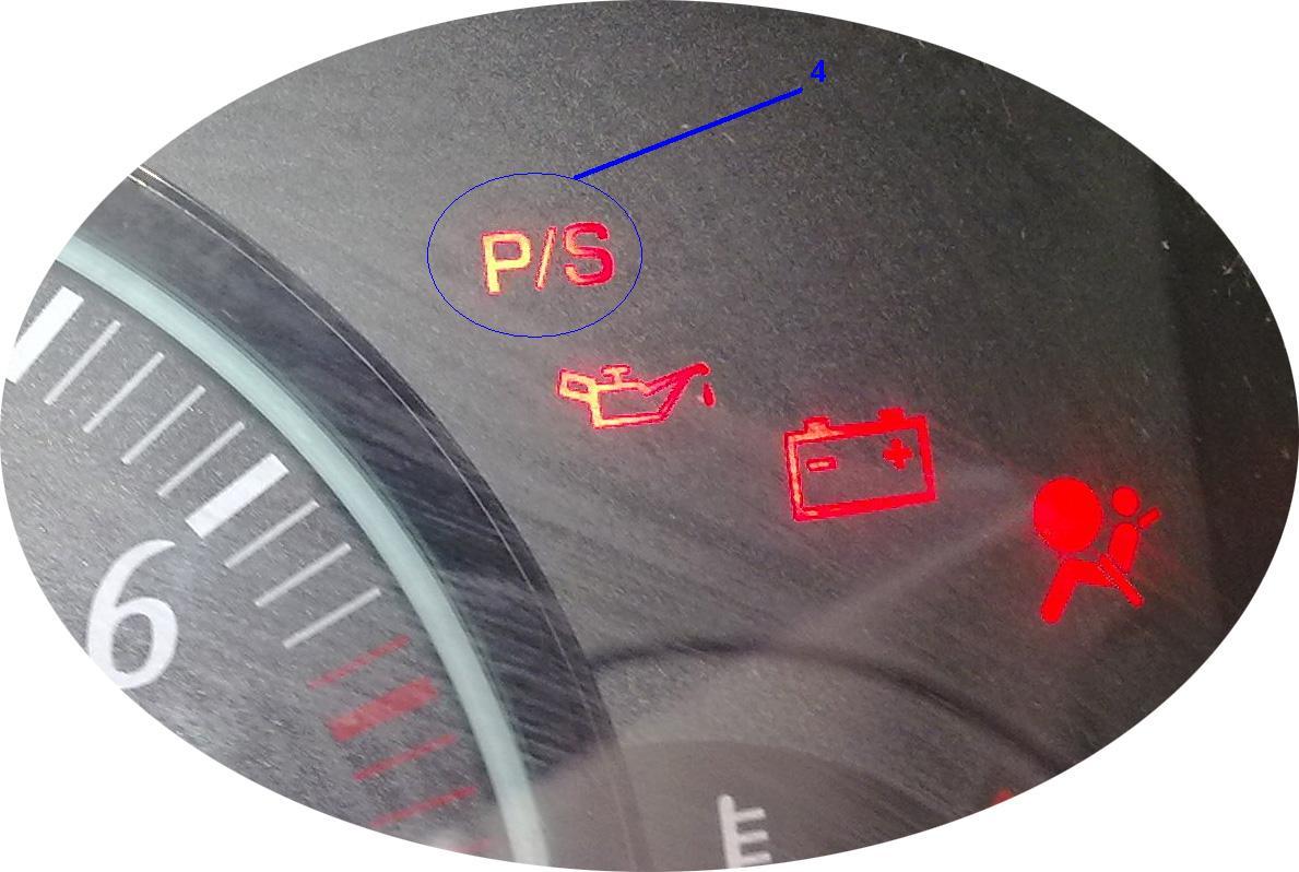 что означает значок на панели приборов руль с восклицательным знаком