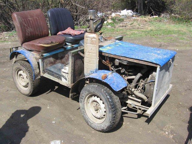 Как из москвича сделать трактор