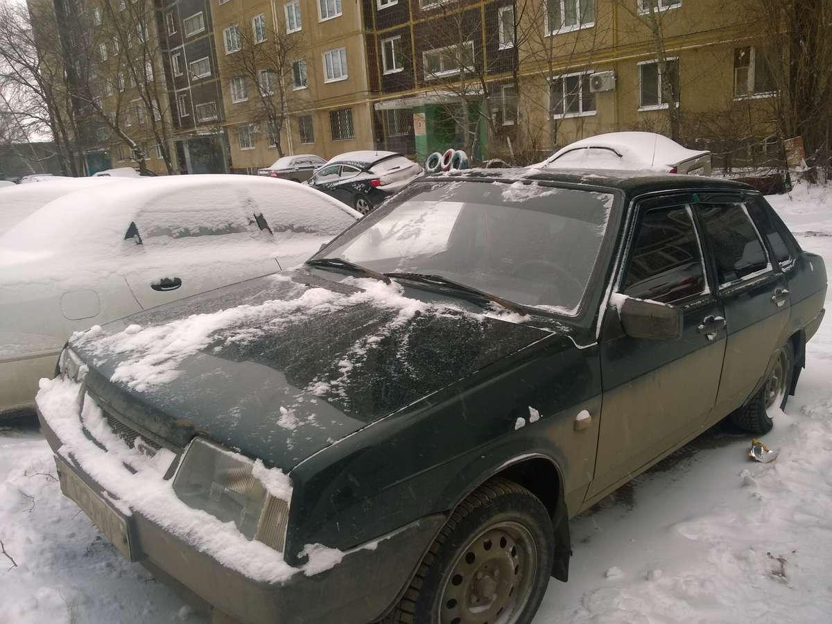Припять в снегу