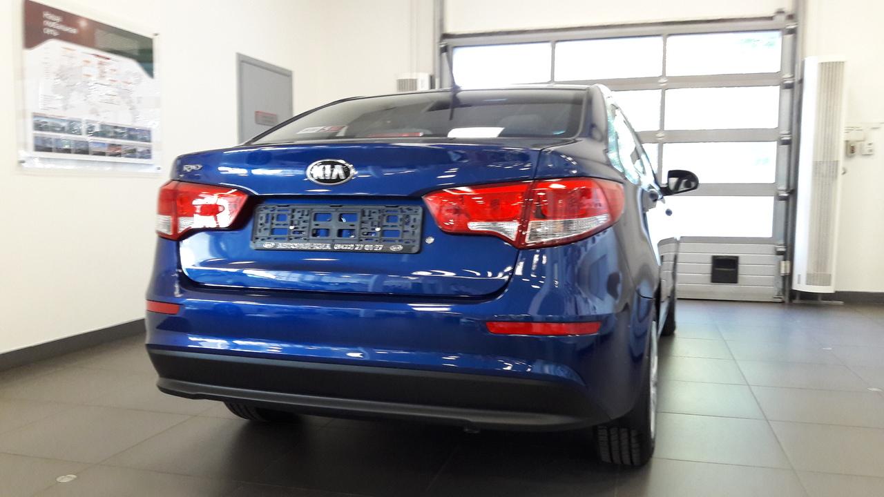 киа рио 2016 синий седан на литых дисках фото