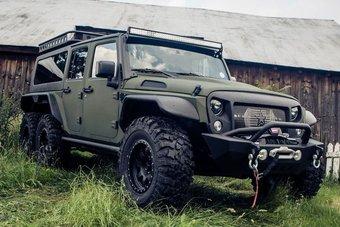 13.09.2016 Китайцы сделали трехосный Jeep Wrangler