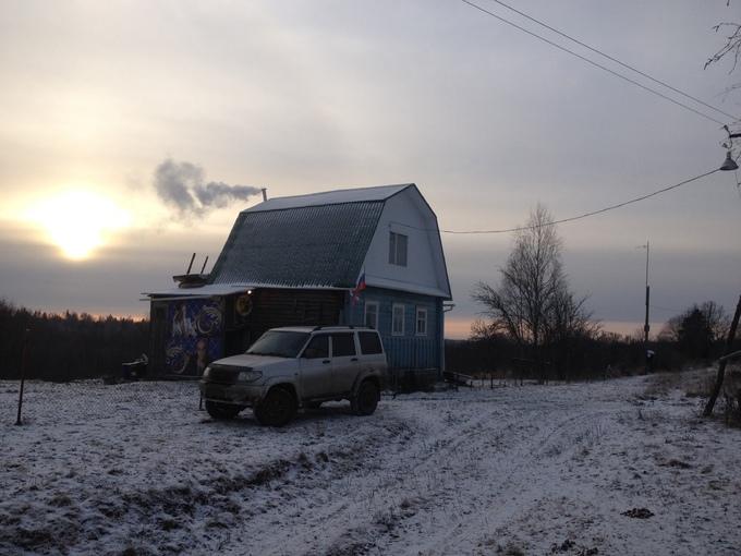 УАЗ Патриот. первый день... снега практически нет