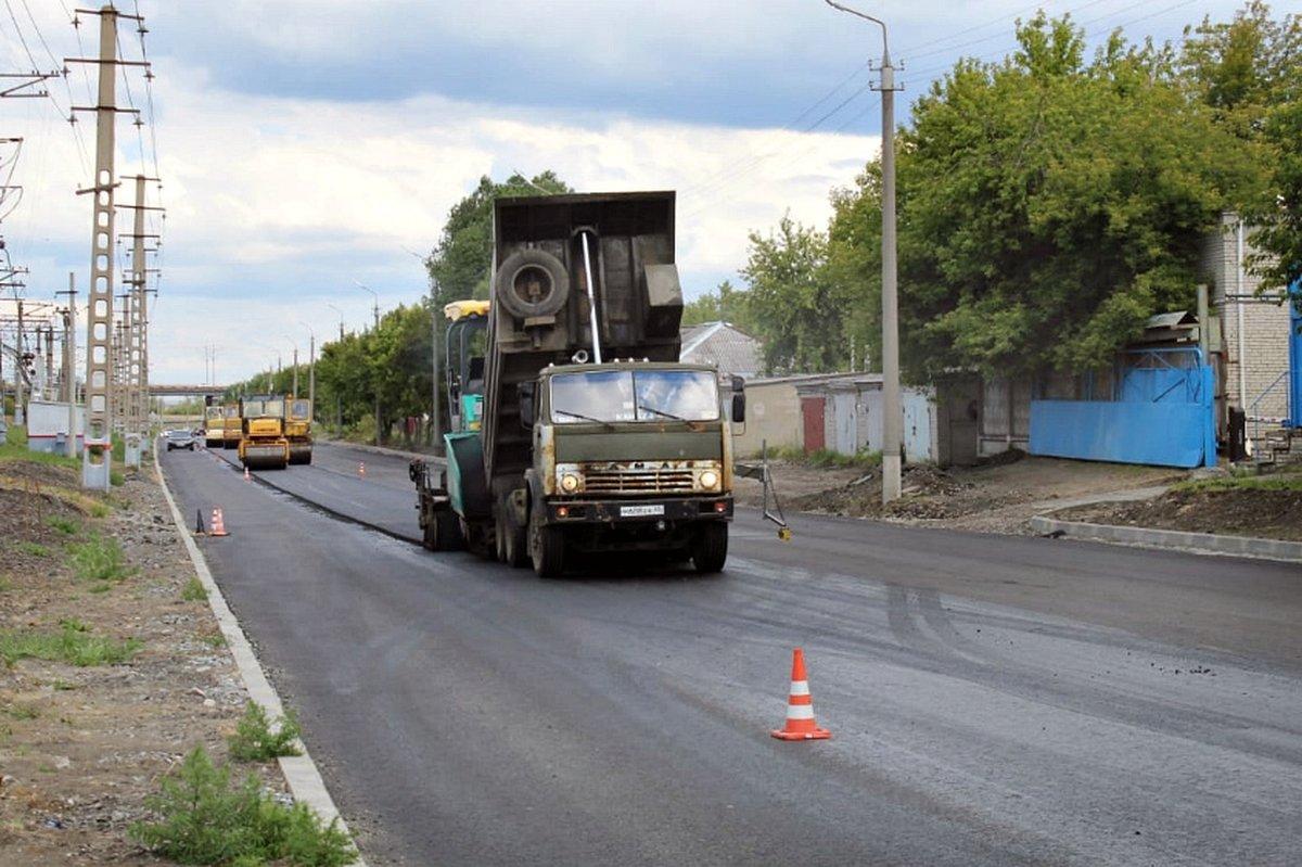 Ремонт дорог в Кургане идет по графику