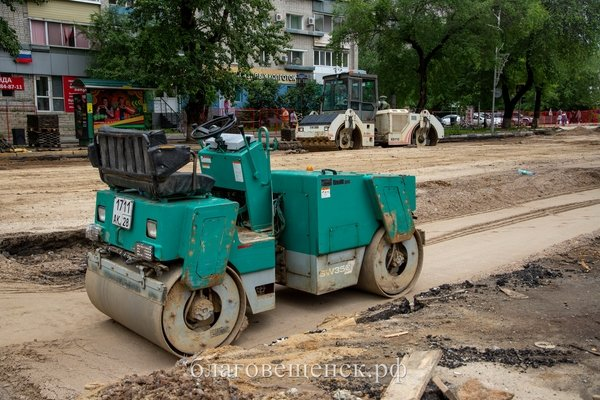 На улице Ленина в Благовещенске уложат новый асфальт и обустроят парковочные места