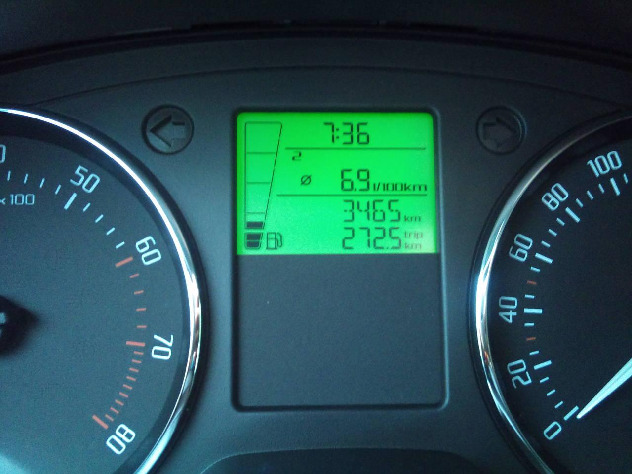 skoda fabia 1.2 обороты двигателя при скорости