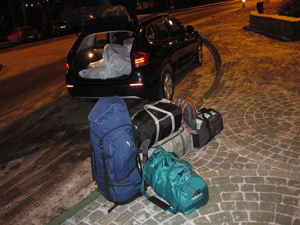 88937e5d332c Три человека, четыре колеса на дисках, рюкзак 120 литров, три сумки от 60  до 80 литров, еще есть место. Автору 5+ и приятной эксплуатации.