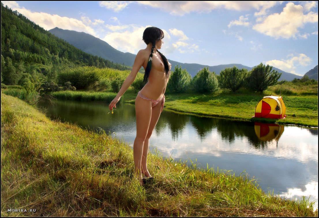 Девушка ню природа шашлык фото 192-6
