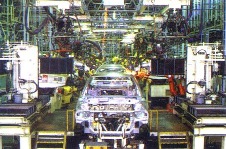 Автоматизированная линия по сборке автомобилей компании 'Ниссан'