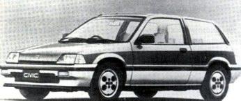 Хонда Сивик-1500 компании 'Хонда'. 1985 год