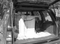 200-литровый холодильник теряется в багажнике