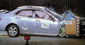 Краш-тест EuroNCAP для Honda Accord