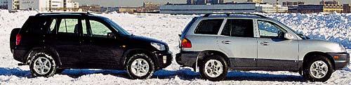 Toyota RAV4 и Hyundai Santa Fe