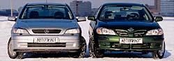 Opel Astra и Nissan Almera