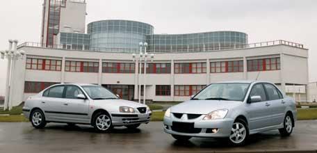 Mitsubishi Lancer 1.6, Hyundai Elantra 1.6