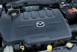 Двигатель серии MZR, полностью выполненный из алюминиевых сплавов. Он дросселируется без перебоев даже на высоких оборотах.