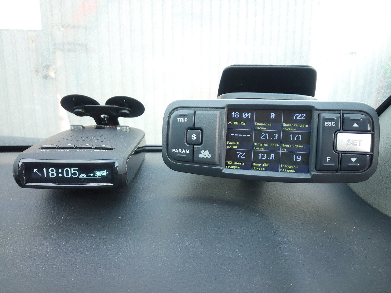 антирадар Sho-Me 900 и бортовой компьютер Multitronics VC731