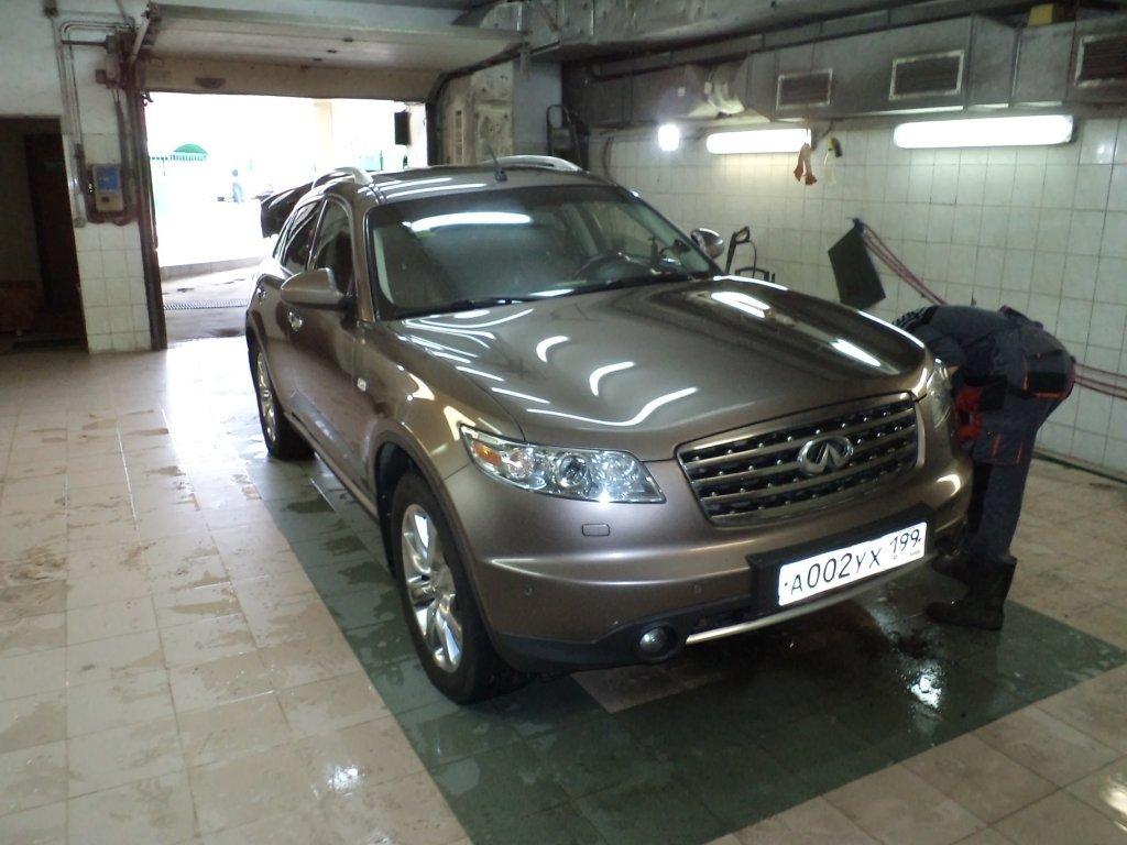 Та машина что была найдена в москве, но так и не куплена, FX45 2007 год