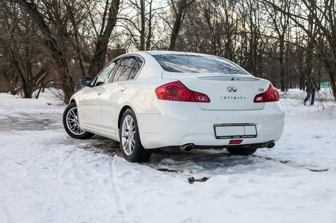 Зима на заднеприводной машине
