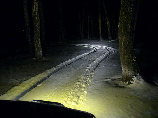 Это я проехал по лесу и развернулся, чтобы сделать фото (декабрь 2007)