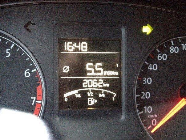 volkswagen polo расход топлива на 100 км