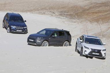 Сравнительный тест LexusRX, Land Rover Discovery Sport иBMWX3. Три пишем, два вуме