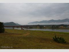 через реку Баргузин (Мост)