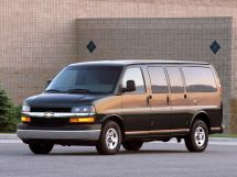 Chevrolet Express рестайлинг 2002, автобус, 1 поколение