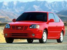 Hyundai Accent рестайлинг, 2 поколение, 04.2003 - 03.2006, Хэтчбек 3 дв.