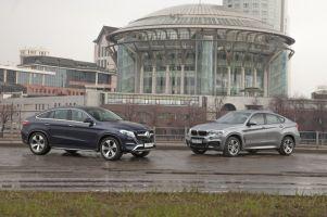 Сравнительный тест Mercedes-Benz GLECoupe иBMWX6. «Шашечки» илиехать?