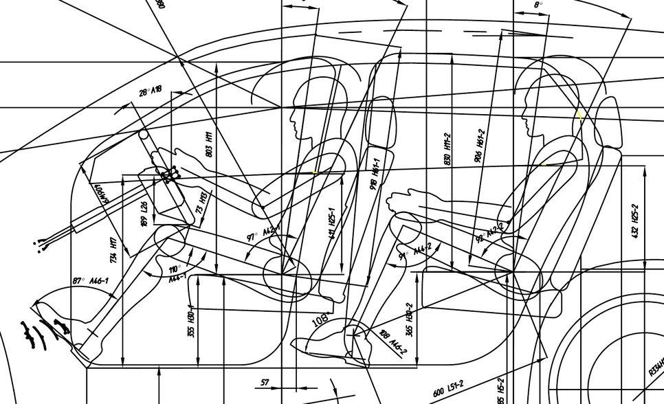 Схема УАЗа 3170 с посадочными габаритами