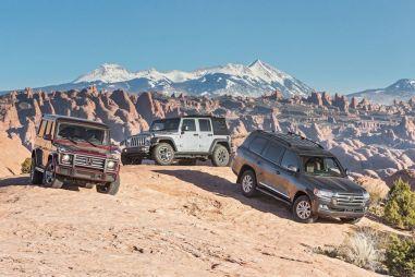 Toyota Land Cruiser 200 против Jeep Wrangler и Mercedes-Benz G550. Лучший внедорожник для выживания