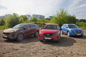 Сравнительный тест KIA Sportage, Hyundai Tucson и Mazda CX-5. Разница потенциалов