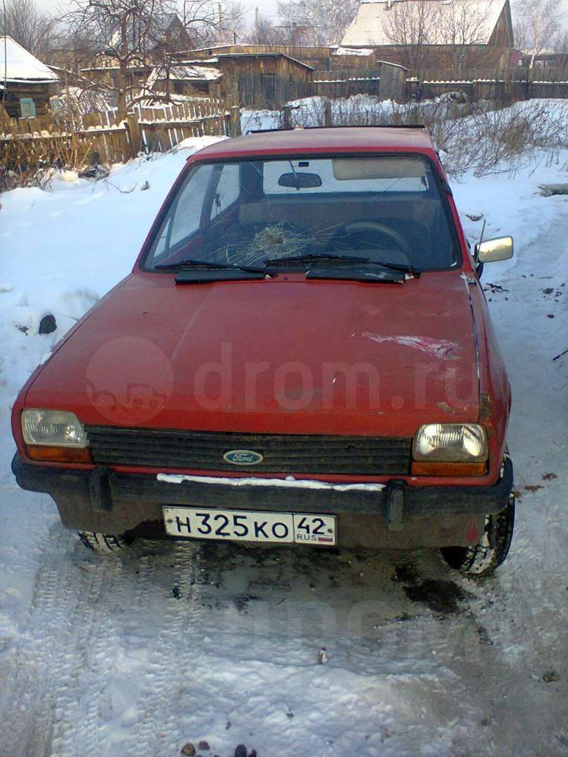 ford fiesta, 1981 год