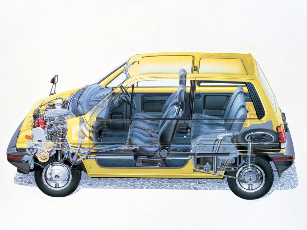 Honda City 1981, 1982, 1983, 1984, 1985, хэтчбек 3 дв., 1 поколение, GA1 технические ...