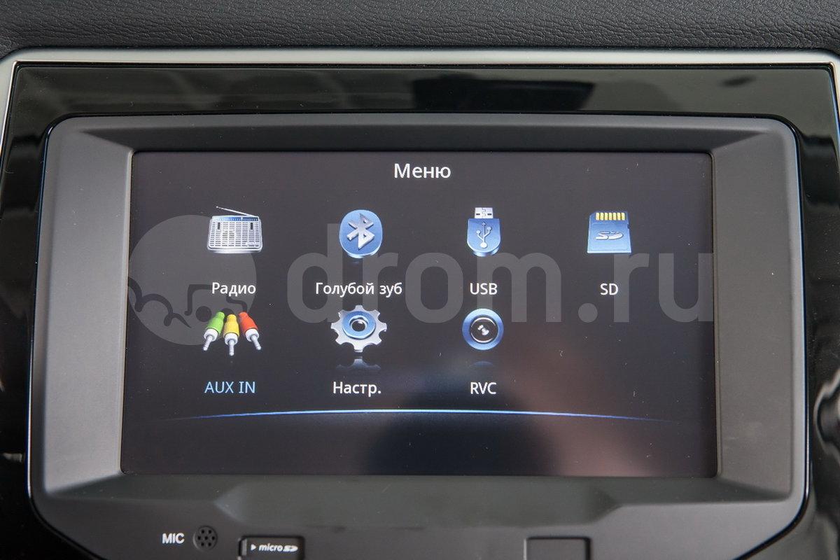 Дополнительное оборудование аудиосистемы: 4 динамика, антенна, AUX, USB, iPod/iPhone, SD-карта (опция)