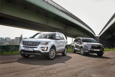 Дуэль-тест кроссоверов Toyota Highlander и Ford Explorer. В погоне за «классикой»