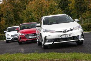 Сравнительный тест Hyundai Elantra, Ford Focus и Toyota Corolla. Гонка за лидерами
