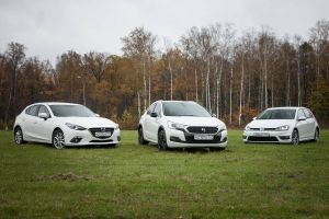 Сравнительный тест Citroen DS4 Crossback, Volkswagen Golf иMazda3. Неформалы