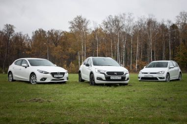 Сравнительный тест Citroen DS4 Crossback, Volkswagen Golf и Mazda 3. Неформалы