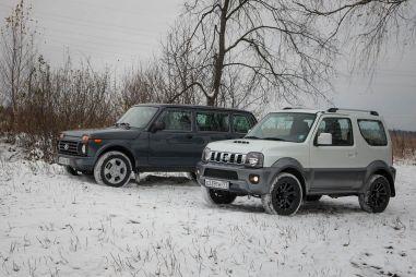 Дуэль-тест Lada 4x4 Urban 5-door и Suzuki Jimny. Подлиннее и подешевле или покороче и подороже?