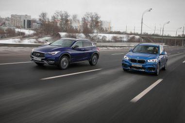 Сравнительный тест BMW X1M и Infiniti QX30. Не надо грязи