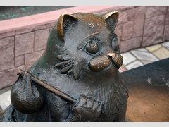 Памятник коту Семёну в Мурманске (Скульптура)