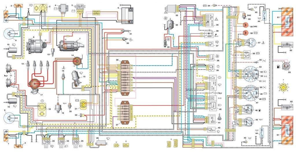 При включенном зажигании не горит контрольная лампочка на зарядку  4 регулятор напряжения 5 реле контрольной лампы заряда аккумуляторной батареи 8 генератор 49 контрольная лампа заряда аккумуляторной батареи