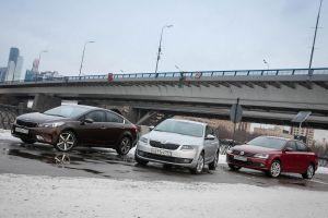 Сравнительный тест Kia Cerato, VW Jetta иSkoda Octavia. Семейная классика (+замеры надиностенде)