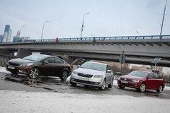 Сравнительный тест Kia Cerato, VW Jetta иSkoda Octavia. Семейная классика (+замеры надиностенде) - «Автоновости»