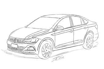Volkswagen Virtus / Polo sedan нового поколения покажут в апреле в Бразилии.