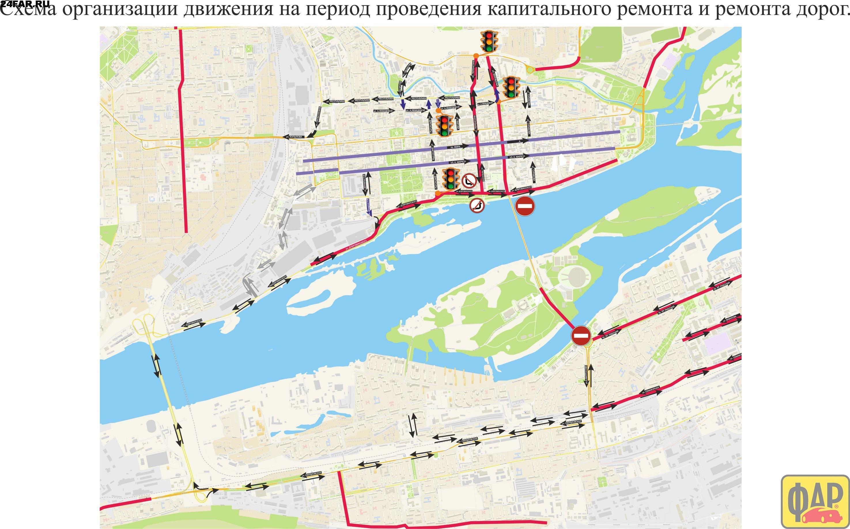 Схема 4 моста в красноярске