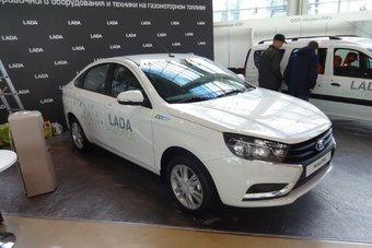 Lada Vesta CNG будет дороже обычной примерно на 80 тысяч рублей.